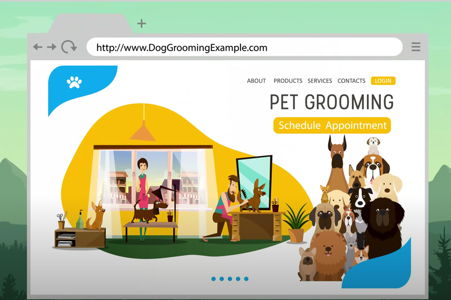 sample business website
