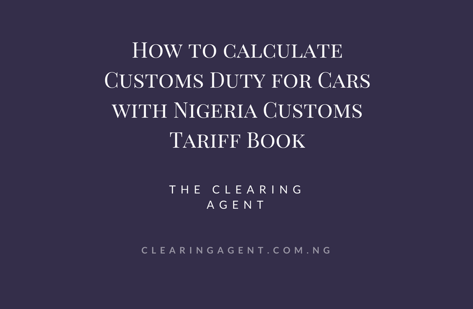 Nigeria Customs tariff book | valuation