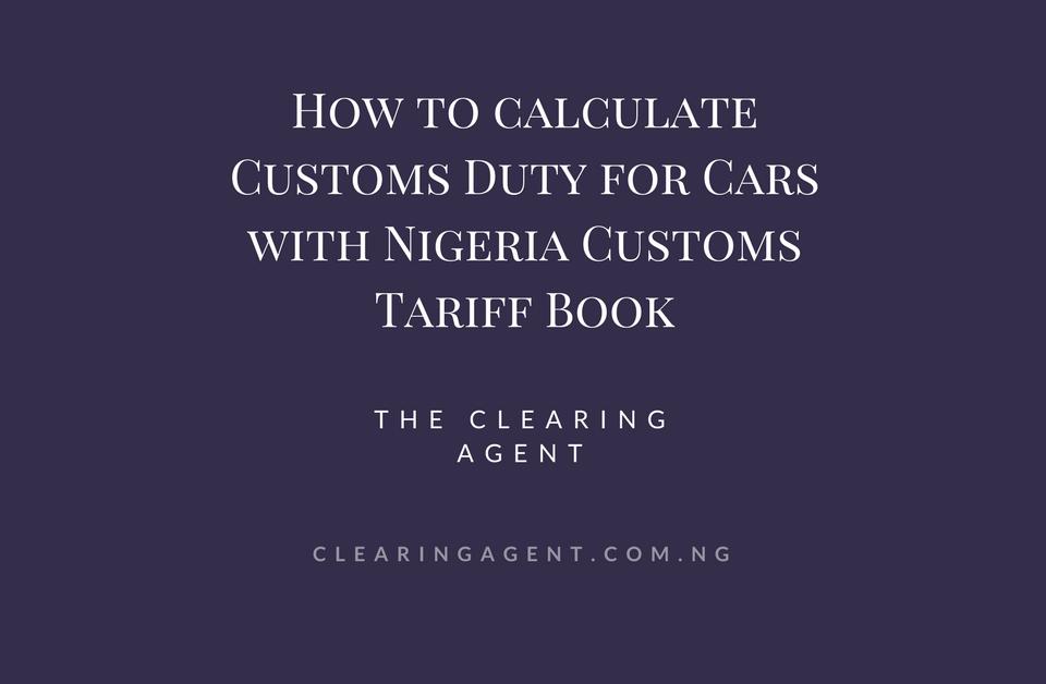 Nigeria Customs tariff book   valuation