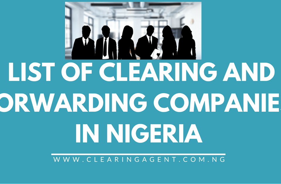 List of Clearing Agents in Nigeria