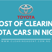 Cost of Clearing Toyota Cars in Nigeria 2020