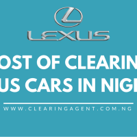 Cost of Clearing Lexus Cars in Nigeria 2020