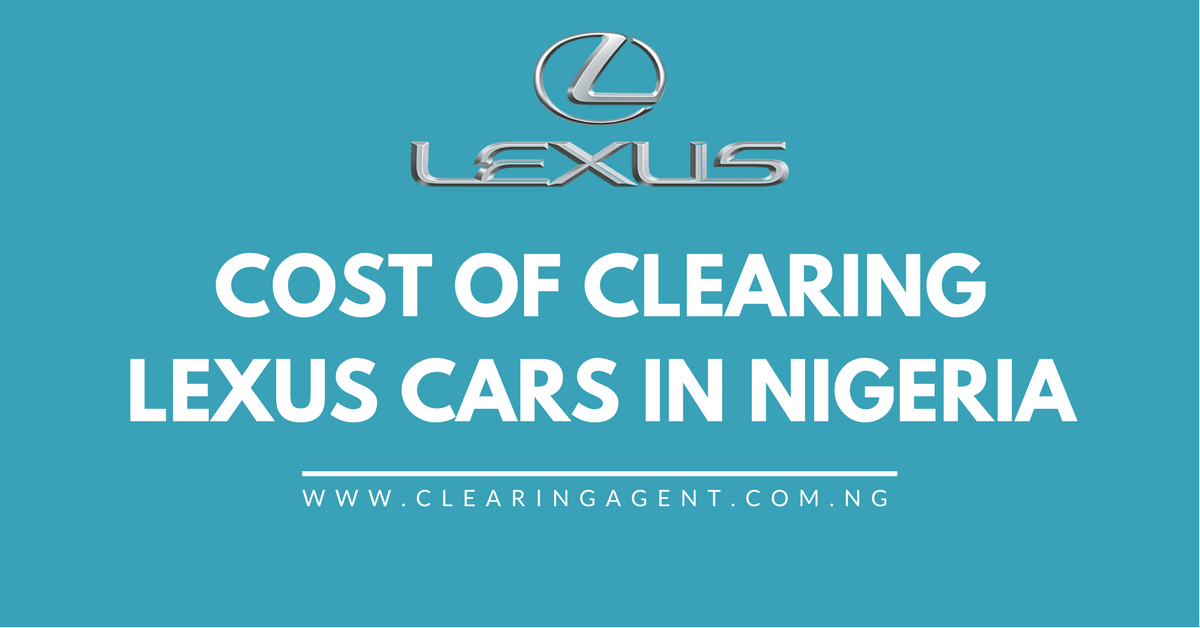 Cost of Clearing Lexus Cars