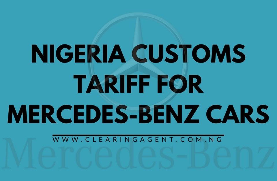 Customs Tariff for Mercedes-Benz Cars