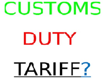CUSTOMS DUTY TARIFF OR IMPORT DUTY NIGERIA