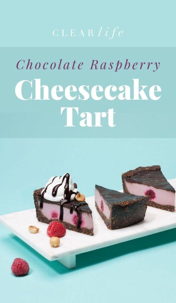 vegan cheesecake tart for dessert