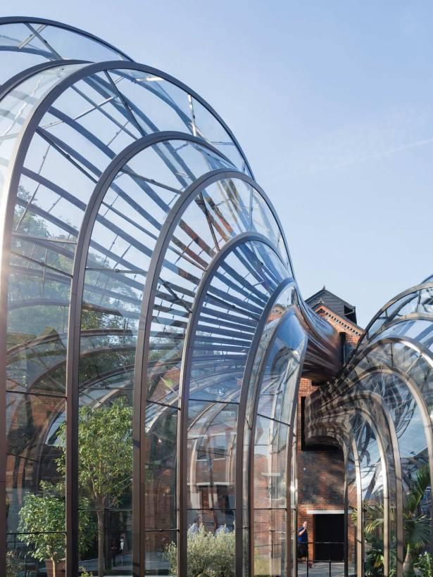 Bombay Sapphire greenhouses