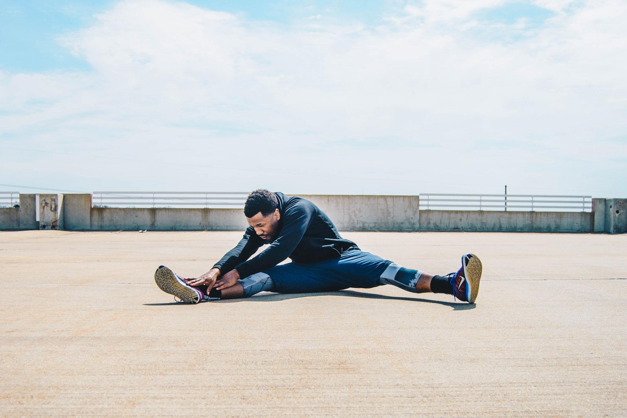guy stretching