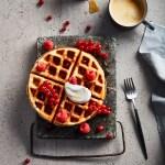 Vegan Oat Milk Waffles