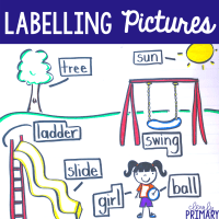Labeling Pictures in Kindergarten & Beyond