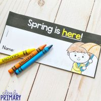 Free Spring Sight Word Reader