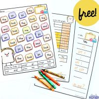Sight Words Color and Count Free