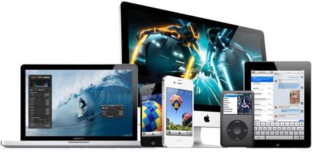 Apple product line display