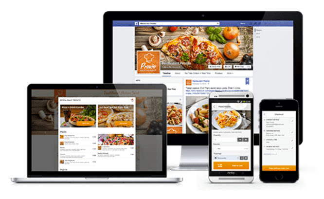 Accept orders from web, fb and mobile