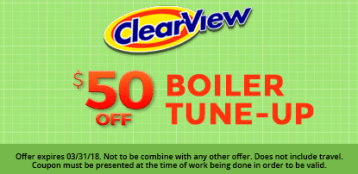 A coupon for $50 off boiler tune-ups