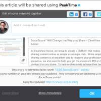 What's New In ClearView Social: Different Share Copy/Image Per Social Networks