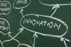 The Word Innovation written on a chalkboard