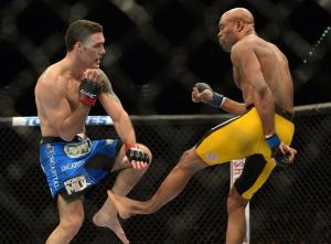 Anderson Silva breaking his leg in a fight with Chris Weidman.