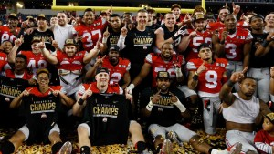 The Buckeye's, following their 42-20 win over Oregon in the CFP National Championship Game