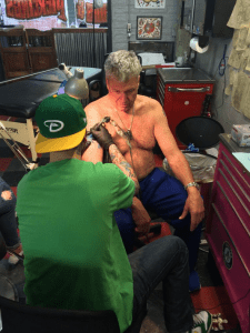 Rex Ryan being tattooed at Scottsdale's Old Town Ink.
