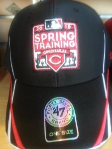 The new 2015 Spring Training Red's cap.