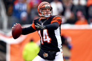 CINCINNATI, OH - DECEMBER 08: Andy Dalton #14 of the Cincinnati Bengals throws the ball during the NFL game against the Indianapolis Colts at Paul Brown Stadium on December 8, 2013 in Cincinnati, Ohio. (Photo by Andy Lyons/Getty Images)