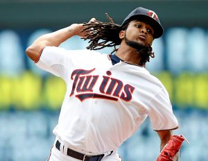 Minnesota Twins pitcher Ervin Santana.(AP Photo/Jim Mone)