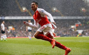 "Football Soccer - Tottenham Hotspur v Arsenal - Barclays Premier League - White Hart Lane - 5/3/16 Alexis Sanchez celebrates after scoring the second goal for Arsenal Action Images via Reuters / Paul Childs Livepic EDITORIAL USE ONLY. No use with unauthorized audio, video, data, fixture lists, club/league logos or ""live"" services. Online in-match use limited to 45 images, no video emulation. No use in betting, games or single club/league/player publications. Please contact your account representative for further details."