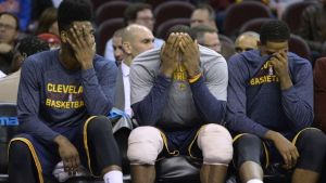 Sad Cavs Bench