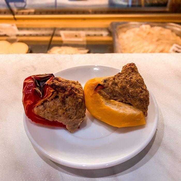 poivron rouge jaune farcis - Clé aux Pâtes, nice spécialité