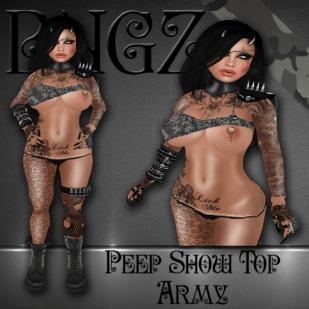 Bugz - Peep Show Top Army 1