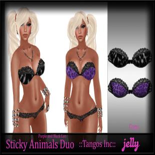 Jelly Sticky Animals Black and Purple Leo Ad