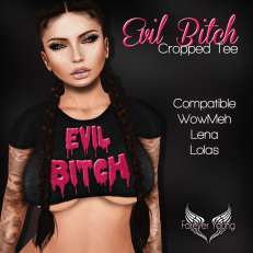 _FY_ Evil Bitch Cropped Tee OCT LubJub