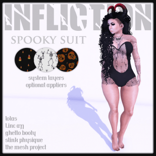 [ Infliction ] Spooky Suit (Beauty Pag)