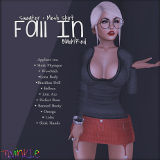 Fall In - Black&Red