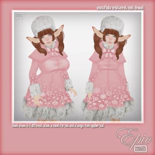 _Epic_ Snowflake Aristocrat Coat Dress {Baby.Pink} Ad