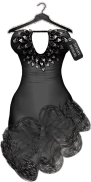 TD Salsa Dress with Appliers - Black