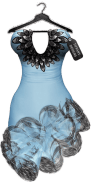 TD Salsa Dress with Appliers - Blue