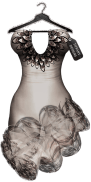 TD Salsa Dress with Appliers - Grey