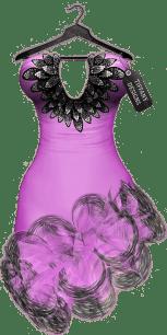 TD Salsa Dress with Appliers - Purple