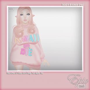 _Epic_ Kawaii or Die Sweater Dress! {Baby.Pink} Ad