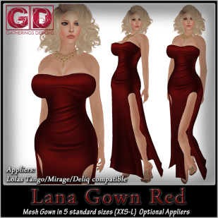 GD Lana Gown Red