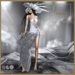 TD Chalice Dress with Appliers - Silver v