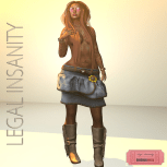 Legal Insanity - Thalia jeans skirt