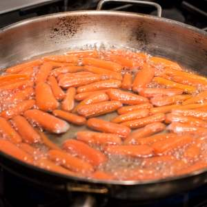 Boiling Carrots in a Shallow Pan