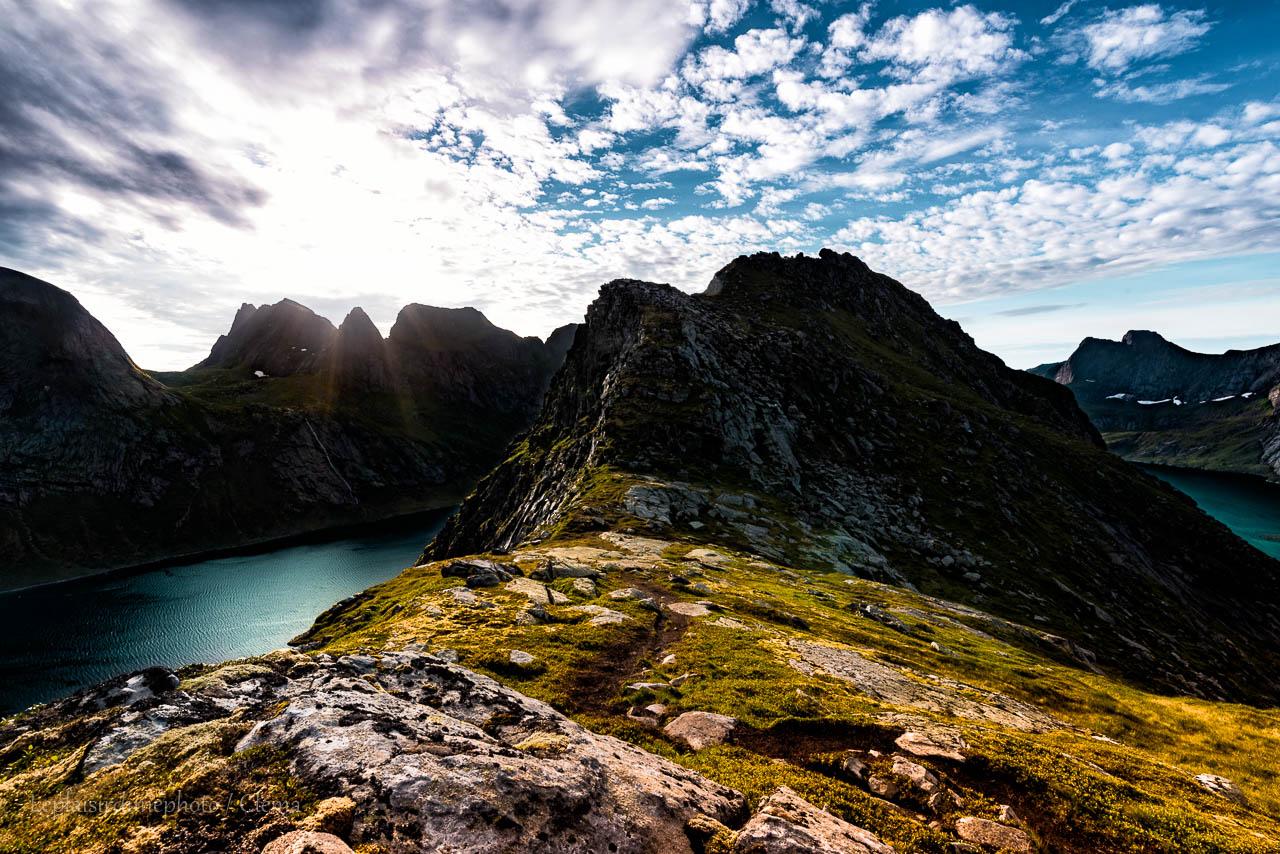 nuit Helvetestinden van randonnée Norvège