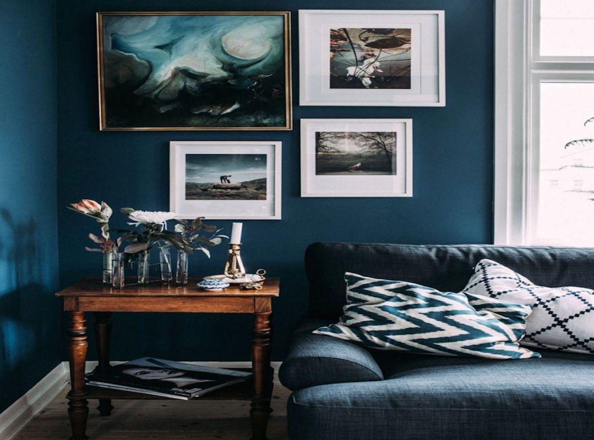 Agreable Canape Bleu Canard Best Of Decoration Bleu Avec Salon Idee Gris Blanc Et 3  Cuisine Idees
