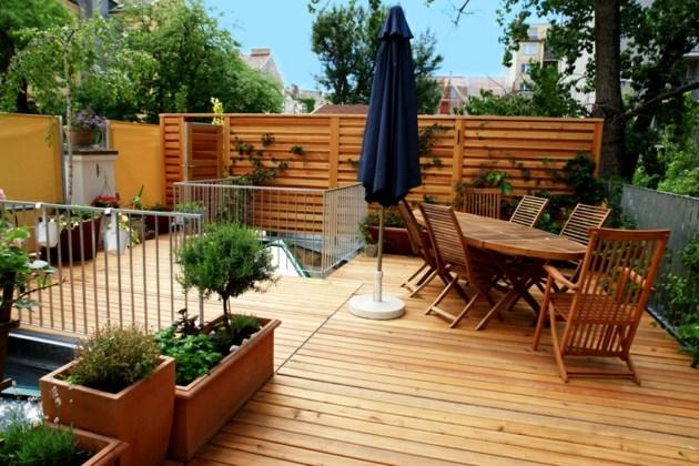 Exceptionnel Terrasse Bois Meubles Cloture Plantoirs Salon De Jardin