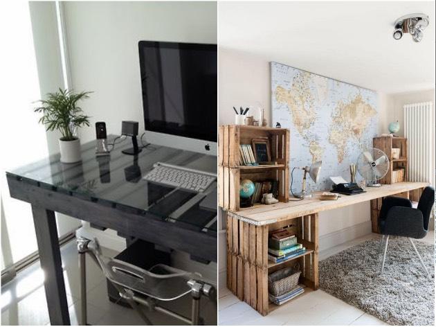 Idee deco palette 20 inspi pour r inventer son int rieur blog clem atc - Idee deco bureau maison ...