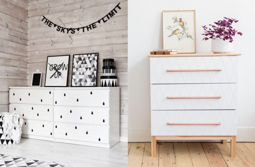 transformer un meuble ikea : la commode malm - clem around the